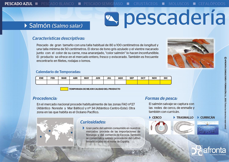 Ficha de producto de Pescadería para la venta de frescos: Salmón (Salmo salar) - Afronta Consultoría