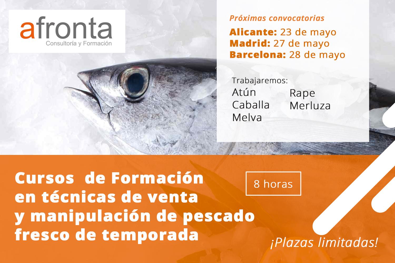 Cursos de formación en técnicas de venta y manipulación de fruta de temporada y de pescado fresco de temporada